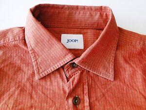 Kw42 Maglietta arancione lunghe da maniche Joop Top a Plaid uomo Design R6qrRH