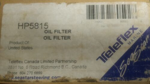 SeaStar Teleflex Marine HP5815 Oil Filter For Marine Power Steering