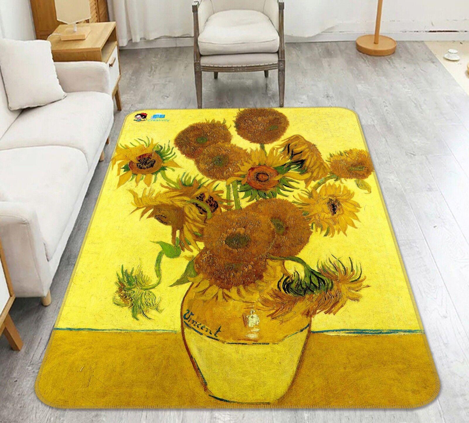 3D Blaumenvase 24 Rutschfest Teppich Matte Raum Matte Qualität Elegant Teppich DE