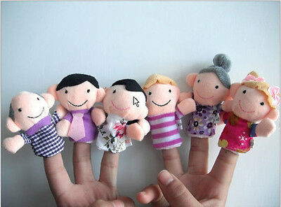Mixed Family Finger Puppets Cloth Doll Kid Baby Educational Hand Cartoon Toys