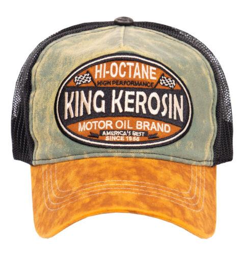 King Kerosin High Octane braun Trucker Cap Biker Rockabilly Style Vintage Kult