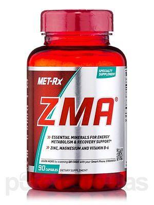 Met-RX ZMA -90 caps Zinc Magnesium b6 Proven test Booster Dietary supplement