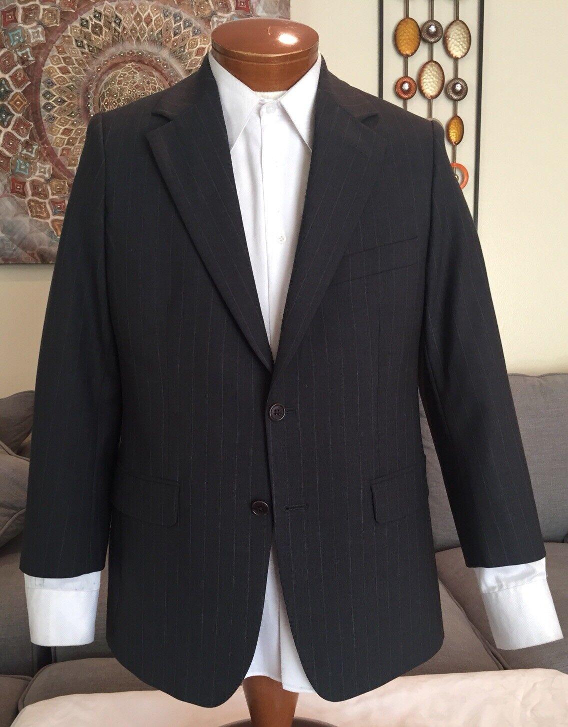 Brooks Brothers  Herren grau Stripe 2 Btn Wool Suit Sz 38 S Excellent