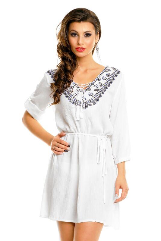 100% Wahr Tunika , Kleid Gr. L/xl, Kleid Z&w Fashion , Weiss