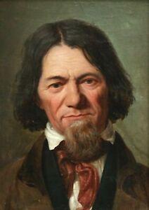 Très Rare Et Précoce Portrait De Gentilhomme De Chicago 1840 Excellent état-afficher Le Titre D'origine