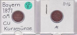 1 Pfennig Kupfer Münze Bayern 1871 121711 Münzen