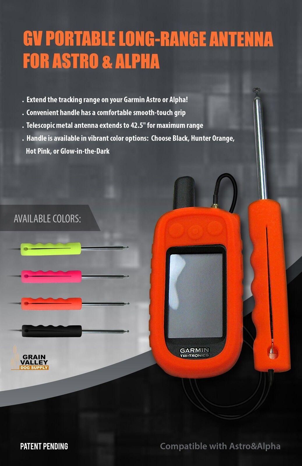 Garmin Astro Alpha Portable Long Range Antenna - Hot rosa GVLRAntPnk