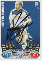 BOLTON WANDERERS HAND SIGNED KEVIN DAVIES MATCH ATTAX CARD 11/12.