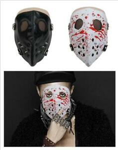 Half Face Mask Leather Punk Cosplay Reusable Anti-Dust Rivet Mask for Men Women Halloween