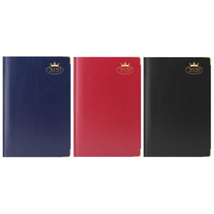 2019 Week View Page A4//A5 Desk Diary Executive Leather Organiser Metal Corner