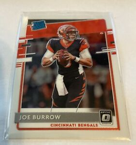 2020 Donruss Optic Joe Burrow Rated Rookie RC #151 Bengals Y218