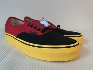 5803e74c9e Vans x Disney Authentic Mickey Mouse Red Yellow VN0A38EMUK9 NWB DS ...
