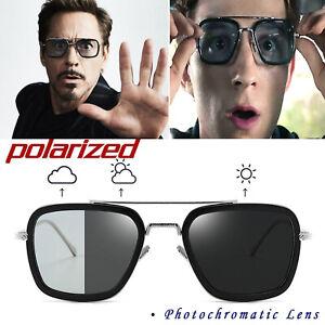 Photochromique-Lunettes-de-soleil-aviateur-Tony-Stark-Avengers-Polarisee-Lunettes-Outdoor