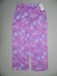 Disney-Girls-Frozen-Hearts-Snowflakes-Pants-100-Polyester-NWT-Size-8-KS365