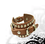 Punk-Leather-Bracelet-Rock-Stud-Chain-Cuff-Bangle-Adjustable-Wristband-Bracelet thumbnail 5