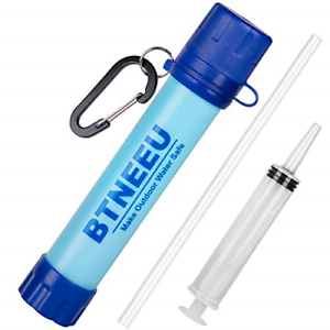 BTNEEU Portable Water Filter Straw 1500L Personal Water Filter 0.01 micron Water