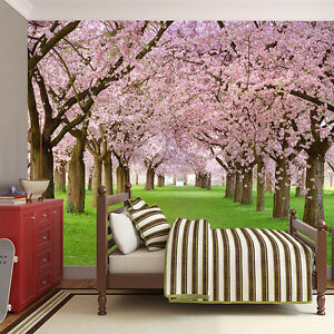 Image Is Loading Sakura Cherry Blossom Wall Mural Wallpaper
