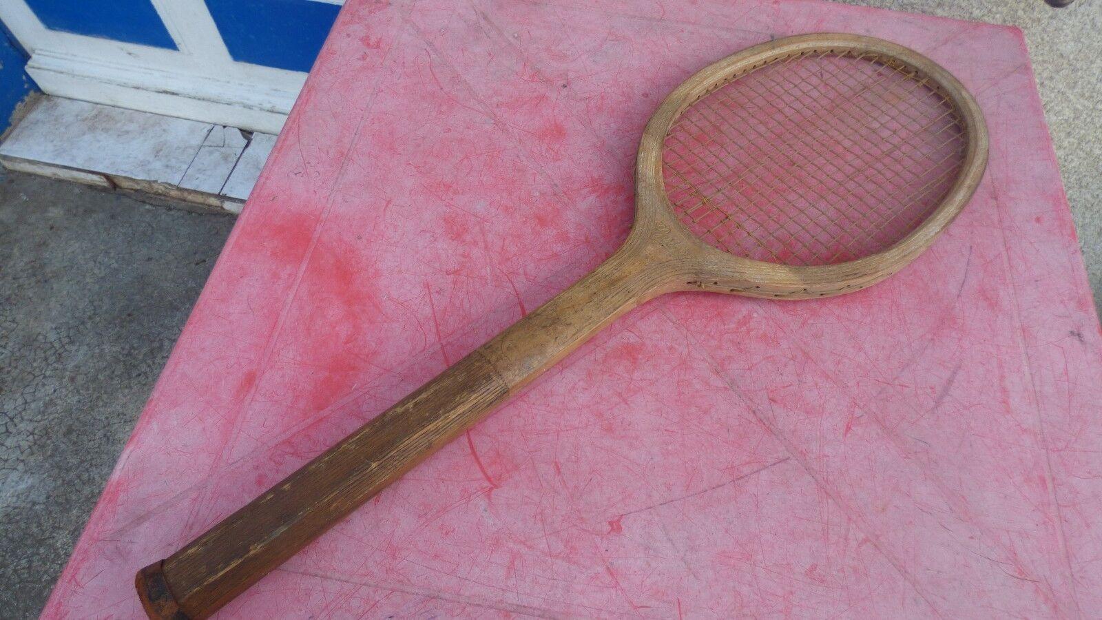 Raquette de tennis vintage Spring  en bois wooden racquet