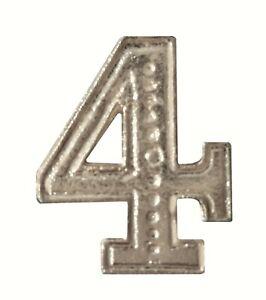 Number 4 Nickel-Plated Orange Order Collarette Character
