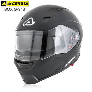 CASCO-MODULARE-ACERBIS-BOX-G-348-APRIBILE-OMOLOGATO-ECE-MOTO-SCOOTER-NERO-OPACO