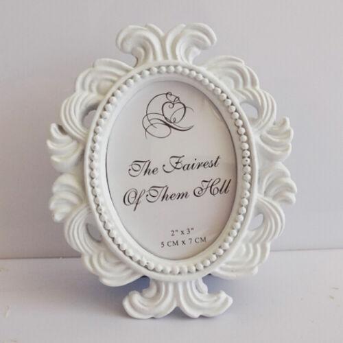 Retro Oval Photo Frame Vintage Resin Picture Holder Wedding Home Table Decor DIY