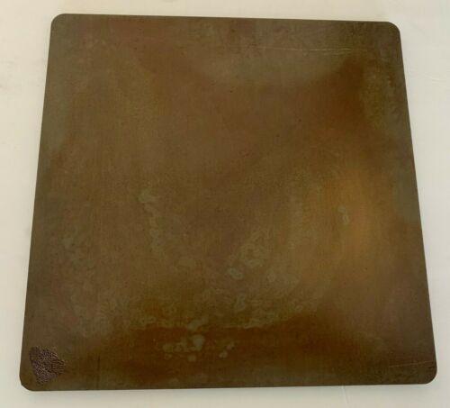 """1//4/"""" Seasoned Steel Pizza Baking Plate .25/"""" A36 Steel 1//4/"""" x 17/"""" x 20/"""""""