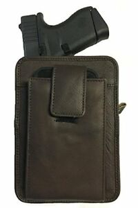 Leather Concealment Gun Pistol Holster Clip Belt Pouch Ruger LCR I Phone 7 Case