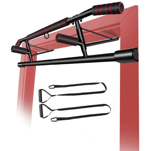 4 in1 Klimmzugstange Türreck Pull Up Bar mit Power Ropes ohne Bohren Schrauben
