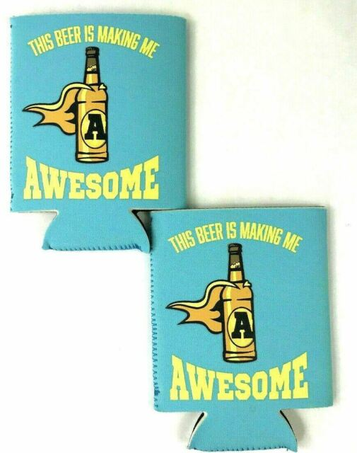 NEW Funny Soda Beer Can Koozie Drink Coozie Foam Cooler Immature A Word ..
