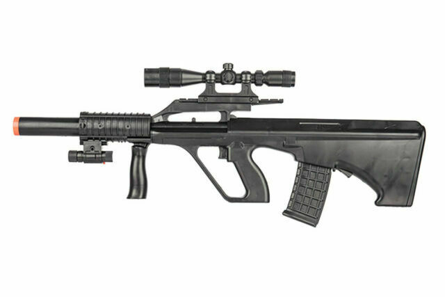Uk Arms P2300 Spring Rifle Tactical Steyr Aug Bullpup Airsoft Gun W Scope Laser For Sale Online Ebay