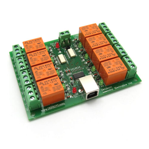 USB Eight Relay Module 8 12V Board for Home Automation Opto-Isolated