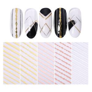 3D-Nagel-Sticker-Stripe-Line-Nails-Adhesive-Stickers-Rose-Gold-Nagel-Kunst-Decal