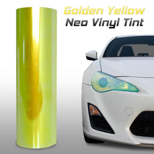 """f 12/""""x24/"""" Chameleon Neo Yellow Headlight Fog Light Taillight Vinyl Tint Film"""