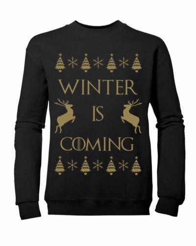 Enfants garçons filles game of thrones winter is coming noël sweat-shirt new age 3-13yrs