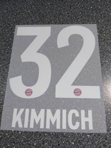 Original FC Bayern München Flock Home 2019//2020 Nr 32 Kimmich Kinder