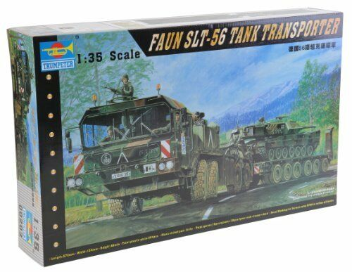 German Faun Elephant Slt-56 Panzer Transport 1 35 Plastic Model Kit TRUMPETER