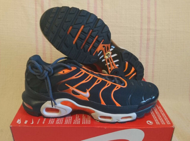Nike Air Max Plus TN Tuned 1 Armory Navy Pure Platinum Orange Blue 852630-403