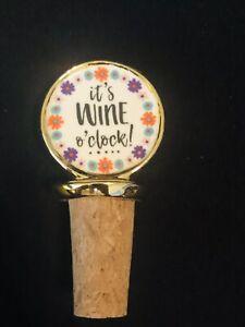 Son vin O'Clock Somewhere bouteille de vin bouchon Stocking papillon cadeau de Noël