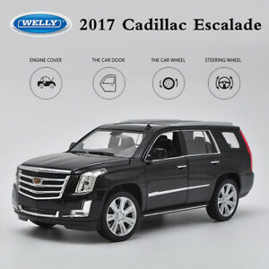 New 1:24 Black 2017 Cadillac ESCALADE SUV Diecast Model Cars Toys By Welly