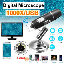 Digital 8led 20x 1000x Hd 1080p Wired Microscope Magnifier For Android Ios Phone