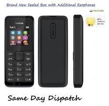 NUOVISSIMO NOKIA 105 Nero Sbloccato Telefono Cellulare a buon mercato BASIC SIM GRATIS