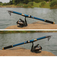 2.1m Portable Fishing Rod Carbon Fiber Telescope Travel Sea Water Spinning Pole