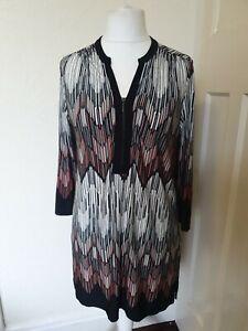 Vestido-estilo-tunica-Slip-Romano-Abstracto-Retro-Tamano-Superior-14