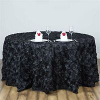 120 Round Grandiose Rosette Tablecloth