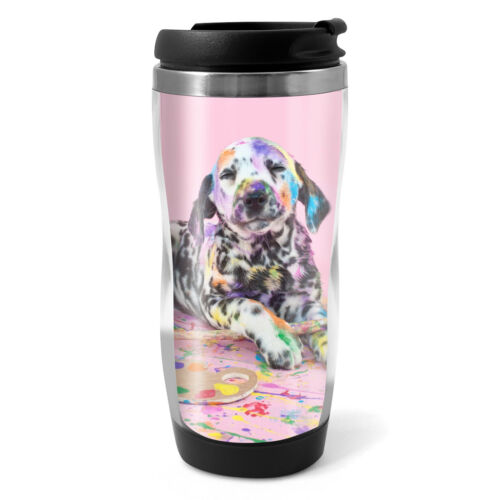 330ml Coffee Tea Kids Car Gift #15609 Naughty Dalmatian Travel Mug Flask