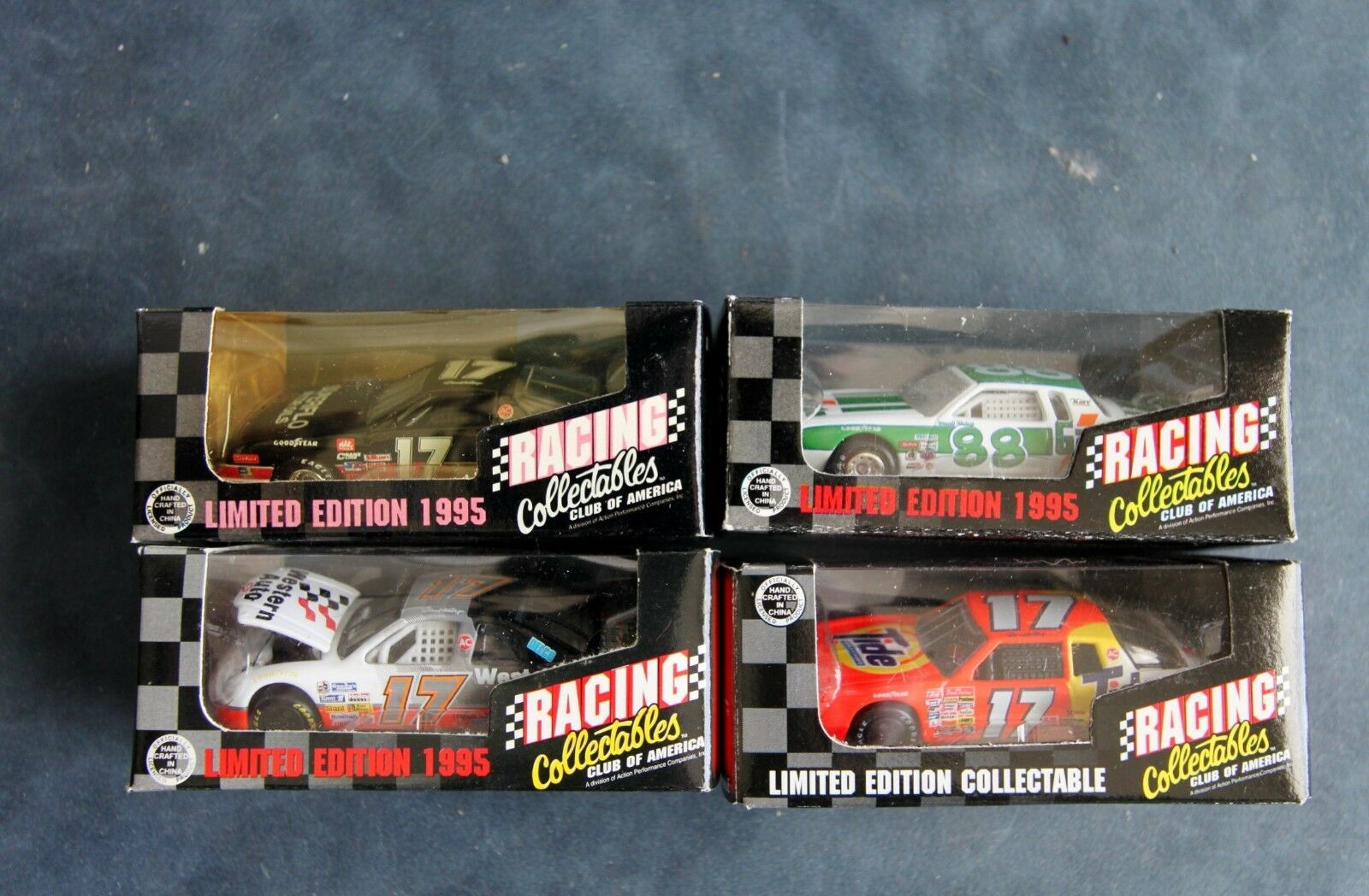 NASCAR - RACING COLLECTABLES - LIMITED EDITION 1995 - LOT OF 4 CARS