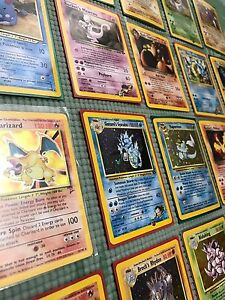 Pokemon-base-set-WOTC-lot-old-vintage-10-card-HOLO-RARE-shadowless-1st-edition
