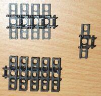 Lego Technik 10 große, schmale Kettenglieder in schwarz