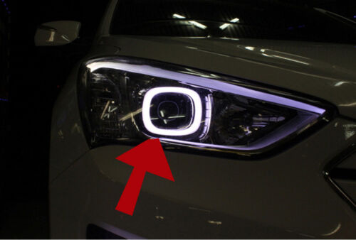 LED Circle Eye Surface Emission DIY Kit For 2013 2014 Hyundai Santa Fe SPORT