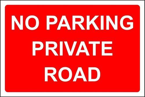 DIVIETO di parcheggio segnale di sicurezza stradale privato